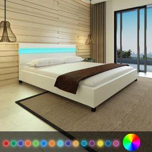 lit 180x200 achat vente lit 180x200 pas cher cdiscount. Black Bedroom Furniture Sets. Home Design Ideas