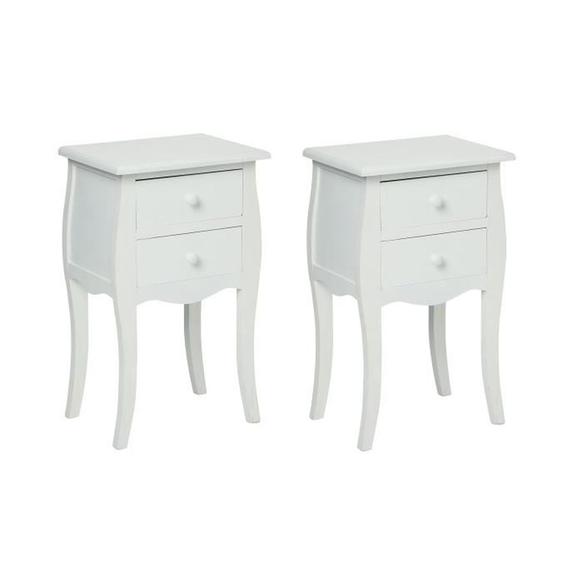 table de chevet 2t blanc achat vente commode de chambre table de chevet 2t blanc soldes d. Black Bedroom Furniture Sets. Home Design Ideas