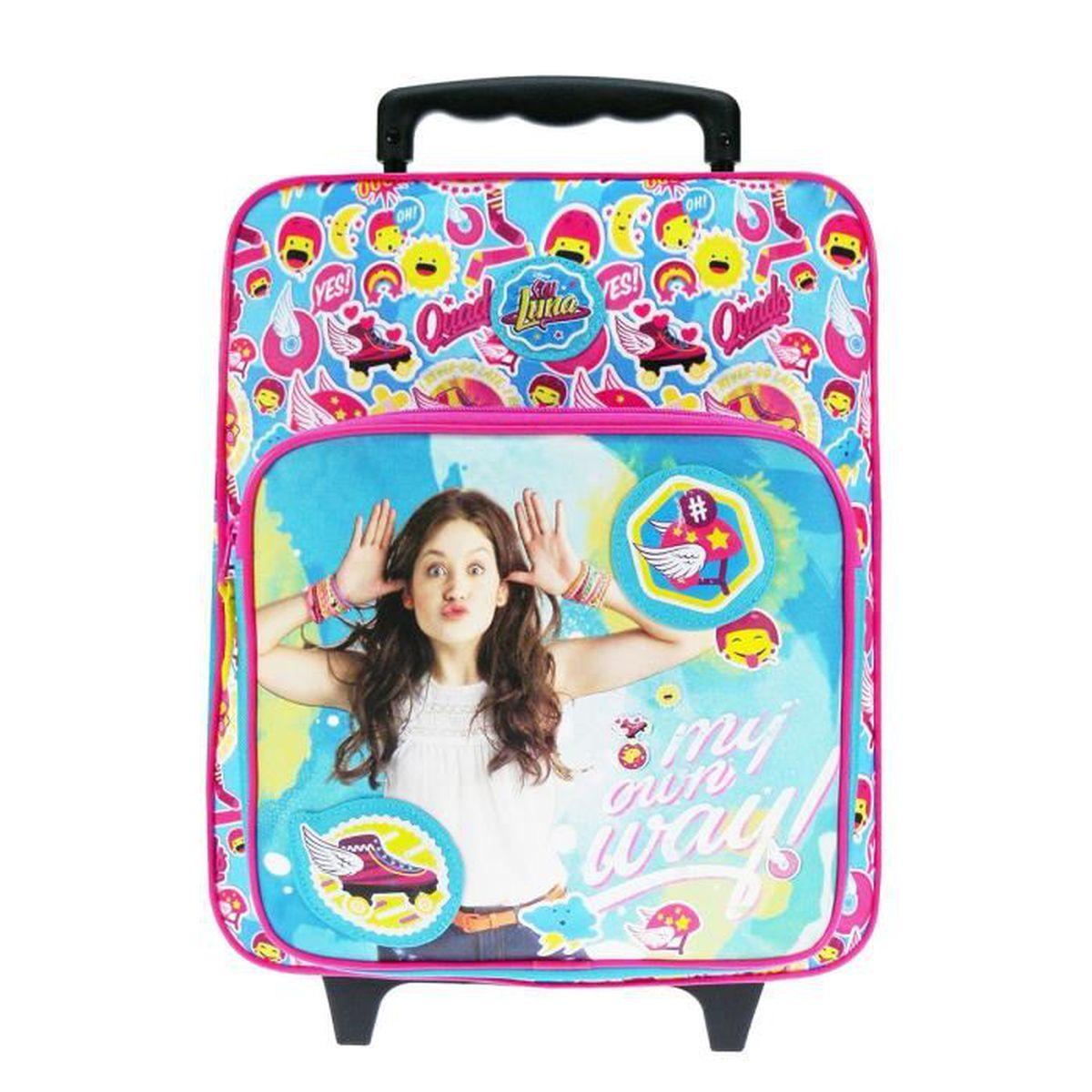 sac dos roulettes enfant soy blue luna roller zone achat vente sac dos 3663612018152. Black Bedroom Furniture Sets. Home Design Ideas