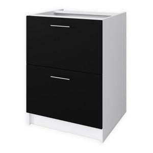 ELEMENTS BAS OBI Meuble bas casserolier 60 cm - Noir mat