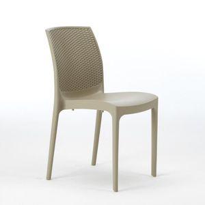 Grande table de jardin avec chaises achat vente grande for Chaise plastique exterieur