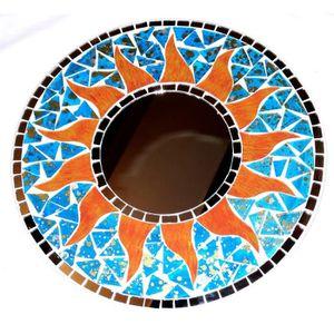 Mosaique en bois achat vente mosaique en bois pas cher for Glace soleil miroir