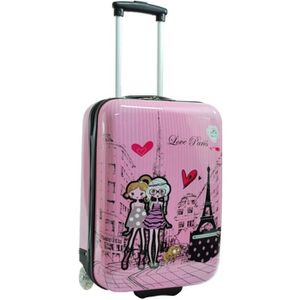 VALISE - BAGAGE Valise filles rose Snowball coque rigide