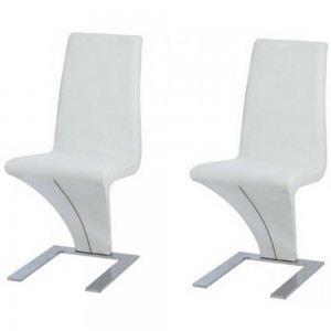 Chaises design miami blanches x2 couleur blanc achat vente chaise mati - Cdiscount chaise de cuisine ...