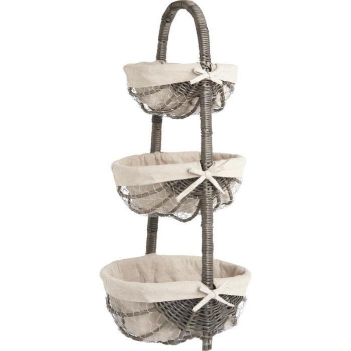 tag re 3 paniers en osier gris achat vente casier pour meuble en osier cdiscount. Black Bedroom Furniture Sets. Home Design Ideas