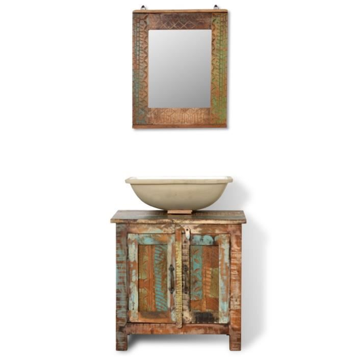 Magnifique ensemble meuble lavabo salle de bain avec for Meuble lavabo miroir