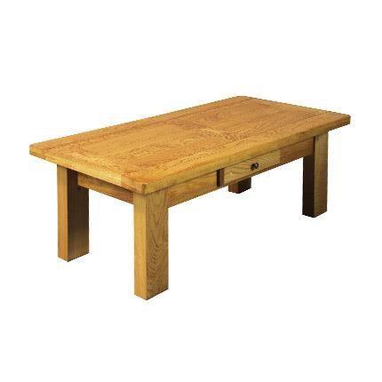 Table basse rectangulaire 1 tiroir ch ne moyen achat for Table basse vegas