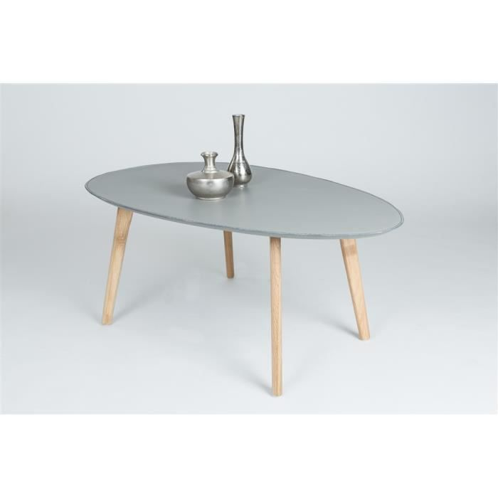 Table basse nacka gris b ton achat vente table basse - Table basse gris ...