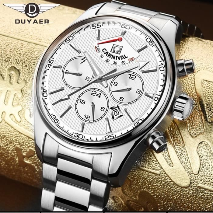 Montre homme blanc luxe - Montre luxe homme ...