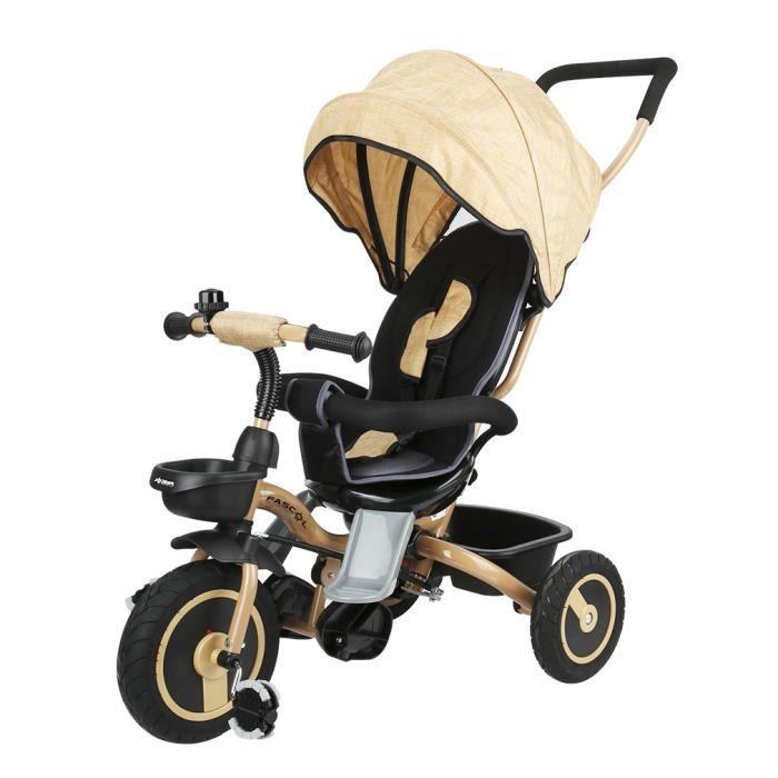 fascol tricycle b b volutif pliable poussette avec canne. Black Bedroom Furniture Sets. Home Design Ideas