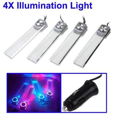 4 x lampe d corative led pour voiture achat vente d coration v hicule 4 x lampe d corative. Black Bedroom Furniture Sets. Home Design Ideas