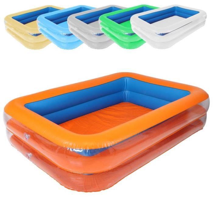 Piscine gonflable bleu et orange 196 x 143 x 46 cm achat vente piscine go - Piscine gonflable cdiscount ...