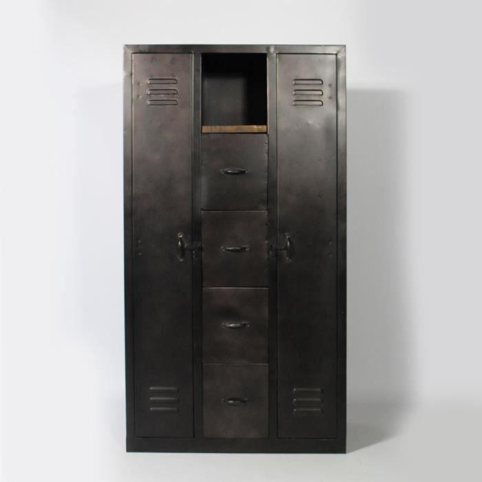 Armoire 2 portes en m tal m tal achat vente armoire for Achat armoire chambre