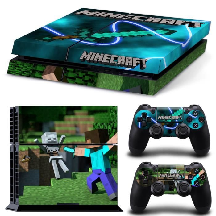 skin autocollant motif minecraft pour sony ps4 playstation. Black Bedroom Furniture Sets. Home Design Ideas