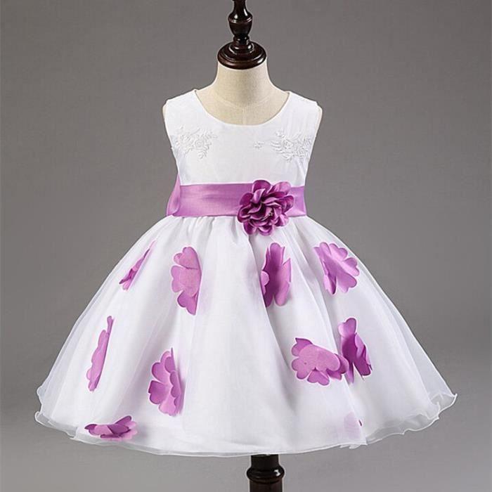 robe demoiselle d 39 honneur fillette robe d 39 enfa violet. Black Bedroom Furniture Sets. Home Design Ideas