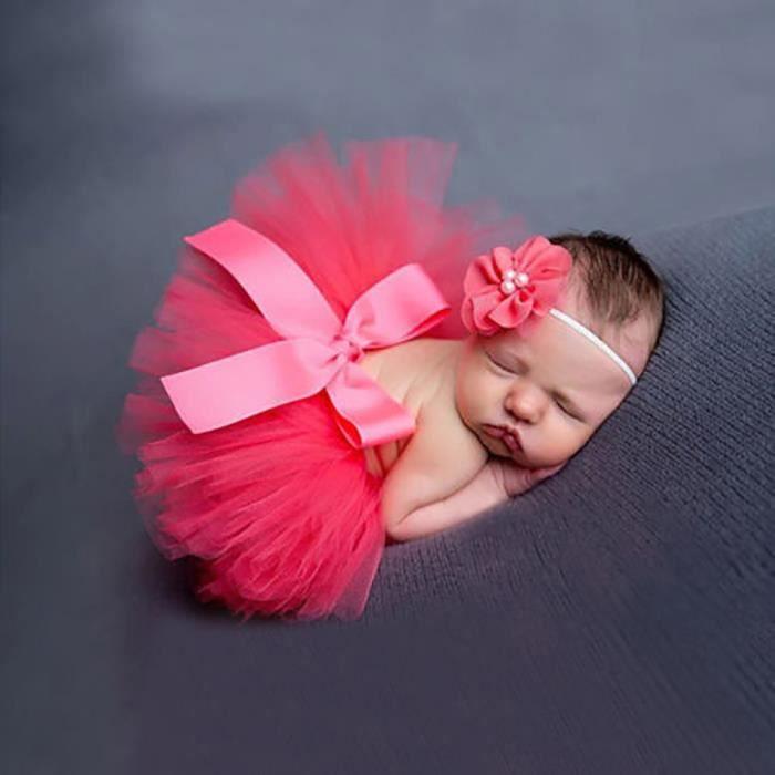 nouveau n fille robe princesse avec bandeau cheveu tr s mignon rouge rouge achat vente robe. Black Bedroom Furniture Sets. Home Design Ideas