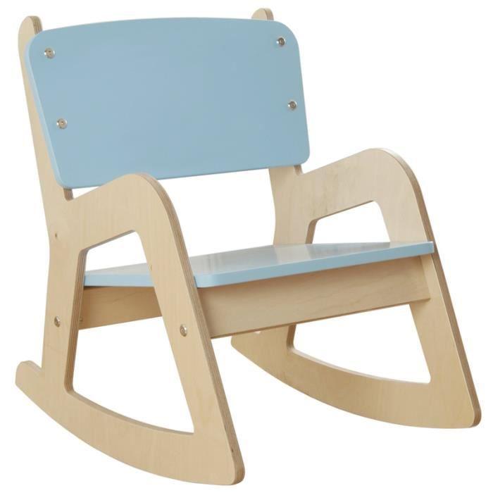 Chaise ber ante en bois de moulin enfants bleu achat for Chaise enfant bois