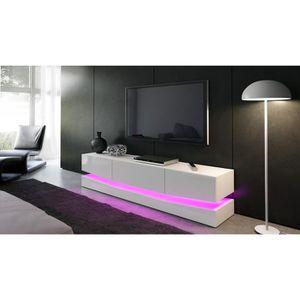 meuble tele blanc laque achat vente meuble tele blanc laque pas cher les soldes sur. Black Bedroom Furniture Sets. Home Design Ideas