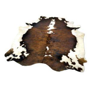 Tapis peau de vache achat vente tapis peau de vache pas cher les soldes sur cdiscount Tapis peau de bete synthetique