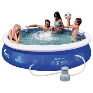 Piscines familiales achat vente pas cher cdiscount for Piscine gonflable ronde