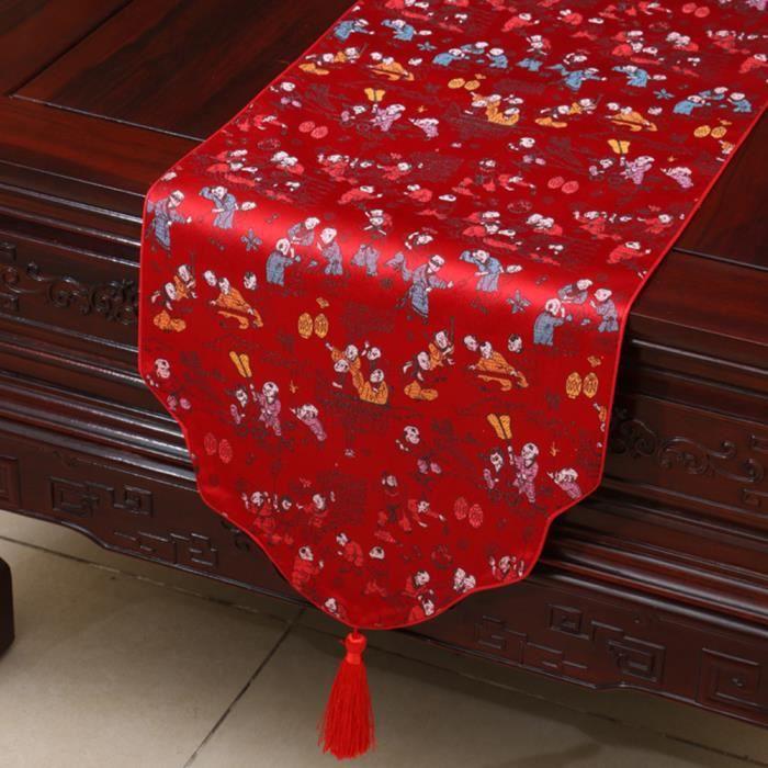 Chemin de table linge de table nappe soie qualit art - Chemin de table lumineux ...