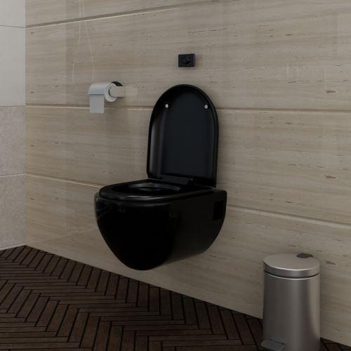 Toilette noir toilette noir sur enperdresonlapin - Toilette noir suspendu ...
