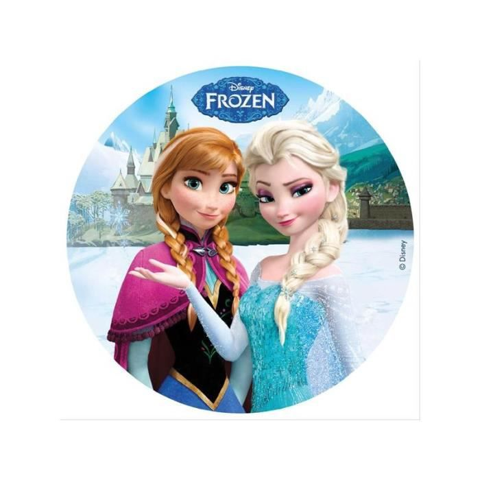 Disque azyme la reine des neiges elsa et anna disney - Ana reine des neiges ...