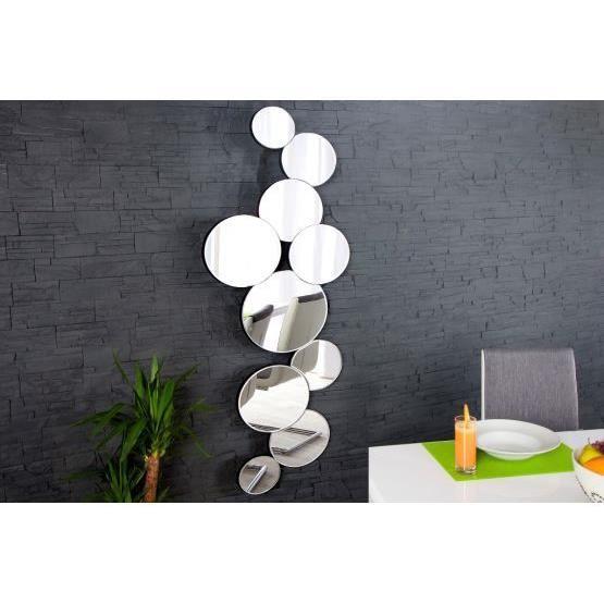 miroir design ridando argent achat vente miroir verre cdiscount. Black Bedroom Furniture Sets. Home Design Ideas