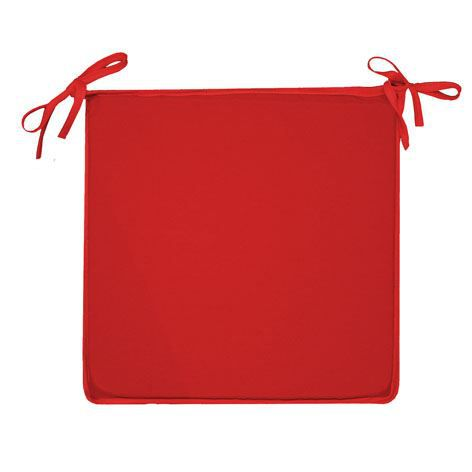 Galette de chaise coloria 36x36 microfibre rouge achat - Galette de chaise avec rabat ...