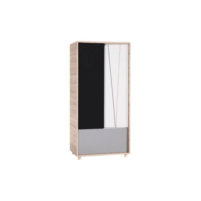 armoire enfant 2 portes evolve sans surmeuble achat. Black Bedroom Furniture Sets. Home Design Ideas
