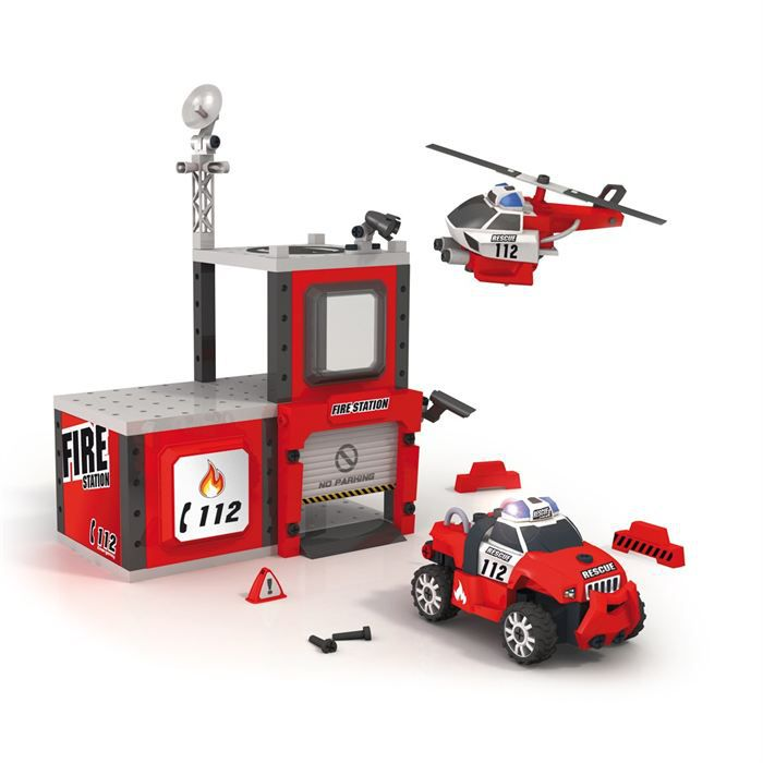Caserne de pompiers de smoby - Caserne pompier playmobil pas cher ...