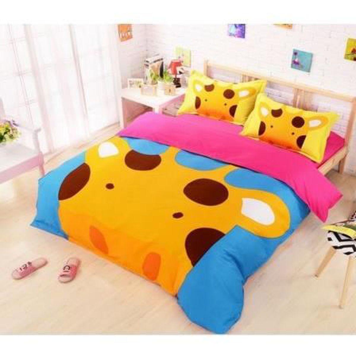Parure de lit girafe achat vente parure de lit girafe pas cher cdiscount - Cdiscount parure de lit ...