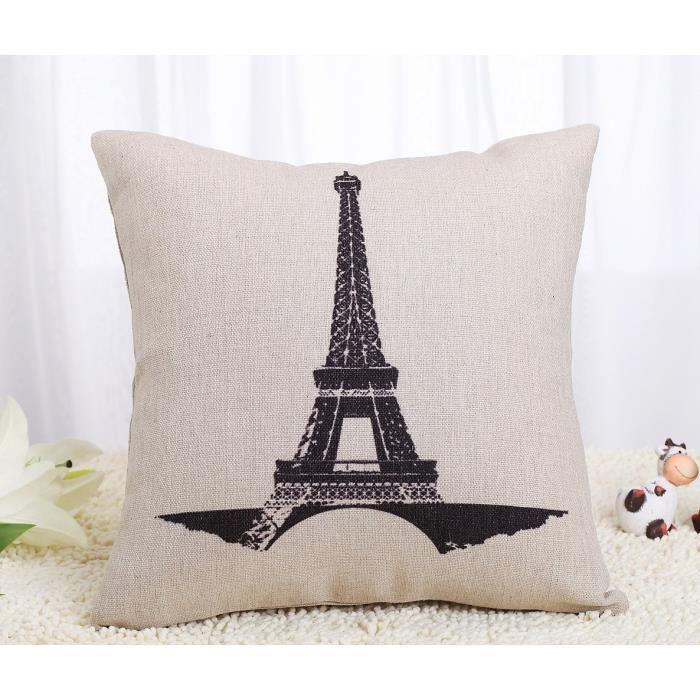 Dreamshop 45x45cm taie d 39 oreiller couverture coussin carr for Taie d oreiller pour canape