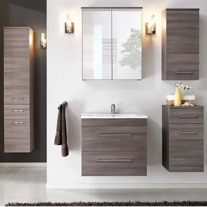 meuble de salle de bain design cosmo atylia mati re mdf dimensions 60cm achat vente salle. Black Bedroom Furniture Sets. Home Design Ideas
