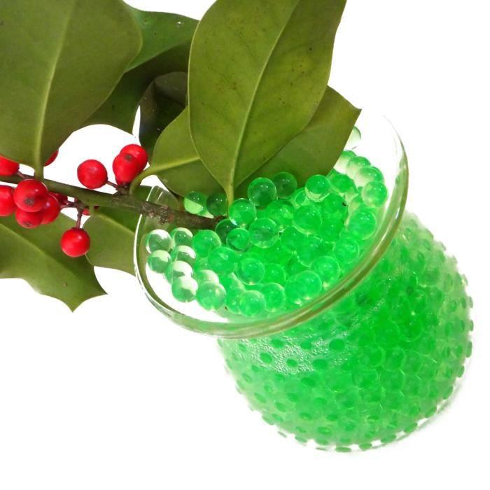 Perle d 39 eau gel floral pour vase achat vente billes for Perle d eau decoration florale