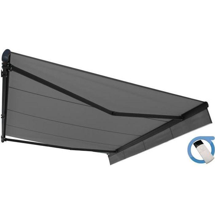 store banne monobloc easy motoris 4x3 m gris achat. Black Bedroom Furniture Sets. Home Design Ideas