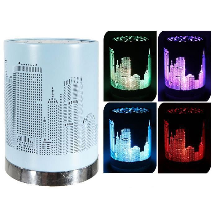 lampe led couleur changeante veilleuse city bleue achat. Black Bedroom Furniture Sets. Home Design Ideas