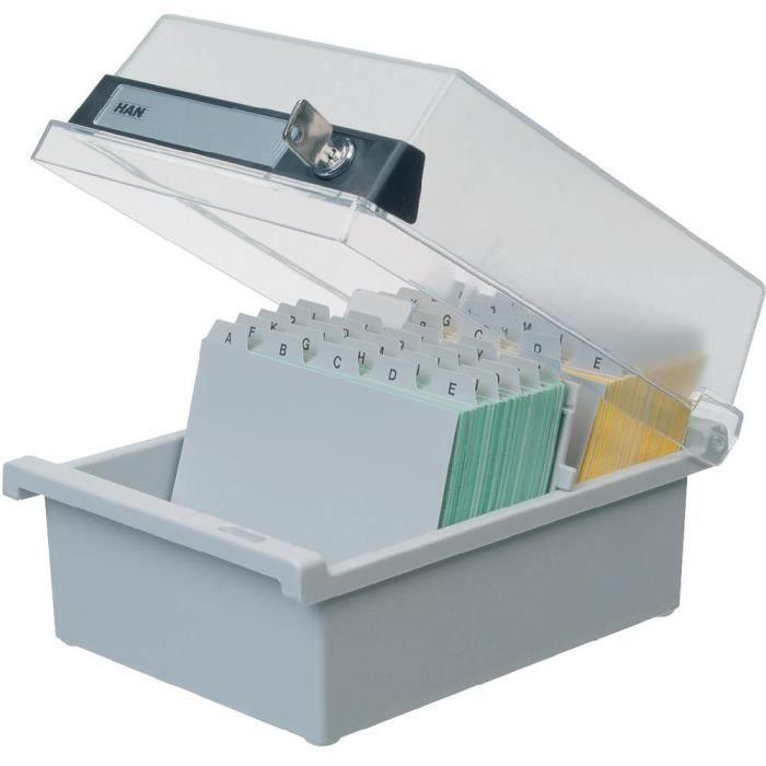 box de rangement avec couvercle pour fiches gri achat vente planning mural box de rangement