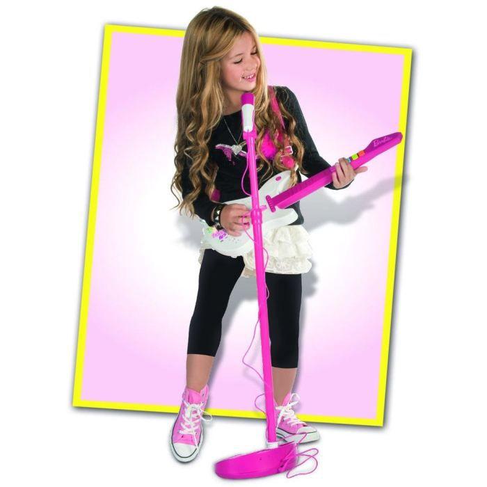 BARBIE Combo Guitare Electrique/Micro Sur Pied