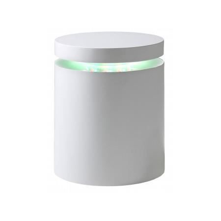 Table d 39 appoint lumineuse led laura achat vente bout for Bout de canape laque blanc