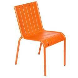Lot de 2 chaises gibraltar orange achat vente fauteuil for Lot chaise de jardin