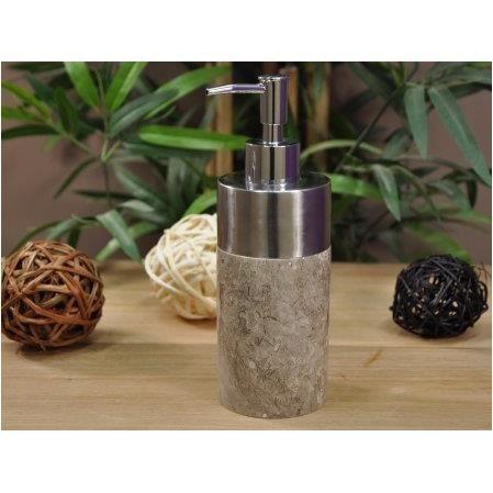 Distributeur de savon en marbre et inox gris achat for Rangement savon