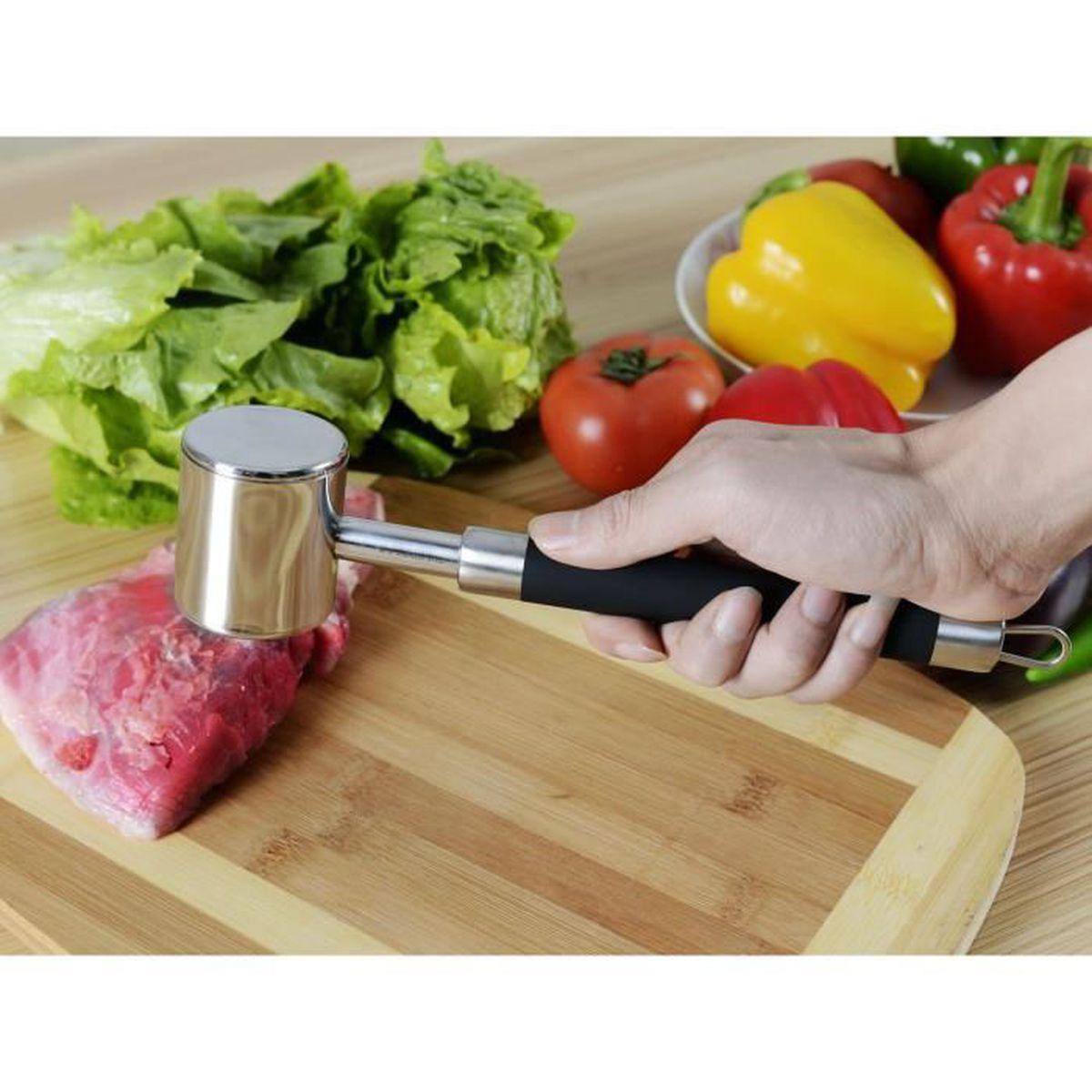 acier inoxydable viande marteau pounder avec poign e non silicone slip pour pounding achat. Black Bedroom Furniture Sets. Home Design Ideas