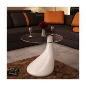 Meuble table moderne table salon blanche for Table basse auchan