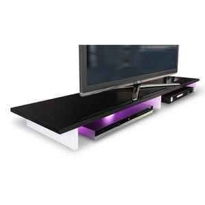FIXATION - SUPPORT TV Étagère pour TV blanc/noir métallique 139 cm (LED