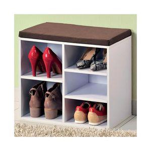 Meuble a chaussures avec banc achat vente meuble a for Meuble chaussure avec banc