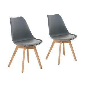 Chaises de salle a manger nordique achat vente chaises for Chaise scandinave plexi