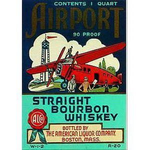 Deco plaques fer ou plaque emaillee  Plaque-metal-retro-vintage-bourbon-whisky-15x2