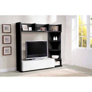 living noir et blanc achat vente living noir et blanc pas cher soldes cdiscount. Black Bedroom Furniture Sets. Home Design Ideas