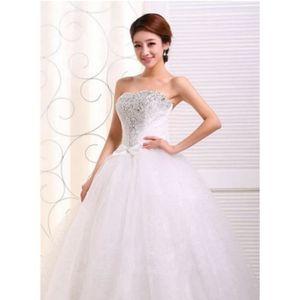 ROBE DE MARIÉE La robe de mariée coréen de queue rouge white